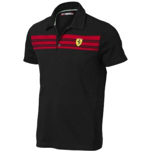 Tricou Ferrari Striped Polo Negru