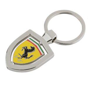 Breloc Ferrari Spinning Shield Silver